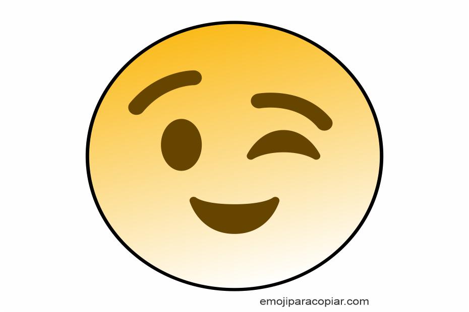 Emoji Piscando o rosto