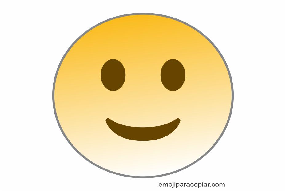 Emoji Rosto ligeiramente sorridente