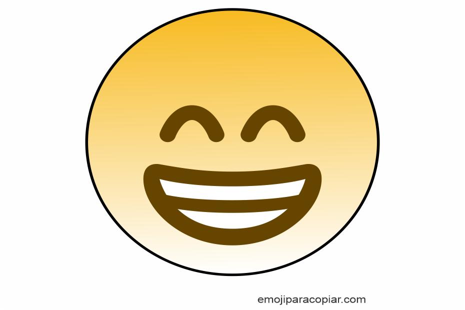 Emoji Rosto radiante com olhos sorridentes