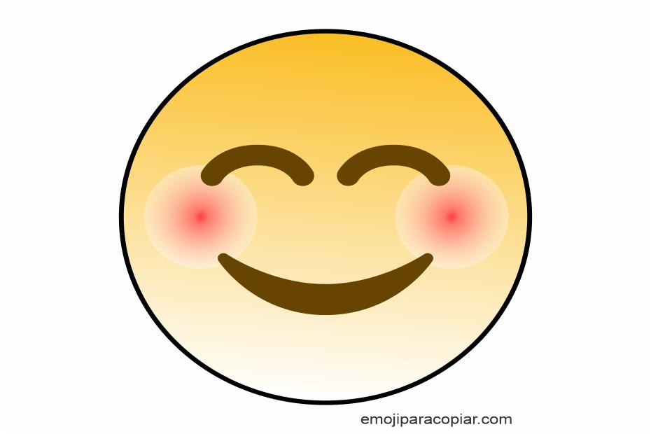 Emoji Rosto sorridente e com olhos sorridentes